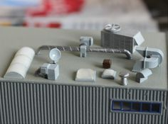 N Scale Rooftop Detail Set by Ngineer N Scale Trains, Modeling Techniques, Graffiti Lettering, 3d Prints, Model Trains, Scale Models, Rooftop, Miniatures, Slot Cars