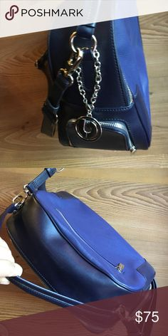 Charles Jourdan Two-tone Navy Bag w/Shoulder Strap Like New. Used once.  Needs a new home. Charles Jourdan Bags Shoulder Bags