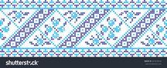 Embroidered cross-stitch pattern Ukrainian national pattern