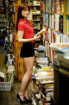Bri-Library-heels by Super Furry Librarian, via Flickr