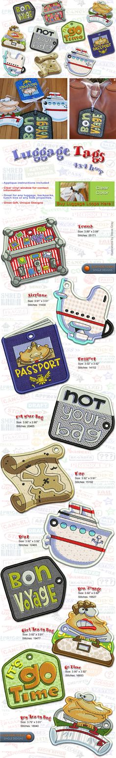 Luggage Tags Embroidery Designs Free Embroidery Design Patterns Applique