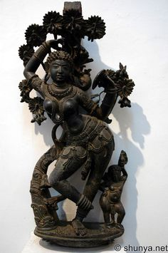 Mohini, Western Chalukyan, 11th c. CE, Karnataka - in Hindu mythology, is the name of the only female Avatar of the god Vishnu. She is portrayed as a femme fatale, an enchantress, who maddens lovers, sometimes leading them to their doom. Mohini is introduced into the Hindu mythos in the narrative epic of the Mahabharata. Here, she appears as a form of Vishnu, acquires the pot of Amrita (an elixir of immortality) from thieving asuras (demons), and gives it back to the Devas (demi-gods),