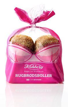 La panadería danesa Kohberg lanzó una campaña para luchar contra el cáncer de mamas, donando parte de sus ventas a la Danish Cancer Society. La idea era crear un envase que llamara la atención y que aumentara las ventas, y fue diseñado por la agencia Envision.