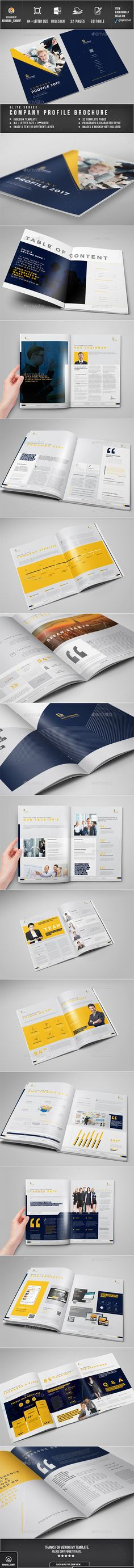 Brochure - Corporate Brochures Easy Customization and Editable A4 and US Letter Size with 3mm bleed 32 Complete pages with Master pages Paragraph Style, Character style included Images, text, Objects are Different Layers Design in 300 DPI Resolution In design files Auto numbering Option working file adobe cc Adobe In design CC,CS6,CS5,CS4 or Earlier software version supported