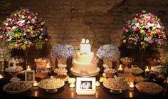 Decoração casamento bucólico - mesa de doces 2