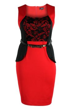 Lovedrobe plus size peplum party dress ... I can't even tell you how much I love this dress!