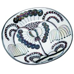 Birger Kaipiainen Arabia Plate | From a unique collection of antique and modern dinner plates at http://www.1stdibs.com/furniture/dining-entertaining/dinner-plates/