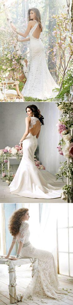 38 Stunning Lace Back Wedding Dresses - Jim Hjelm