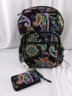 New Vera Bradley Kiev Paisley Campus Tech School laptop Backpack  amp   Whistlet Blck  VeraBradley 2e06ff0a148b1