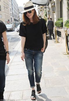 Solo trip: The red-head appeared to be without her family in Paris. She is married to Bart...: