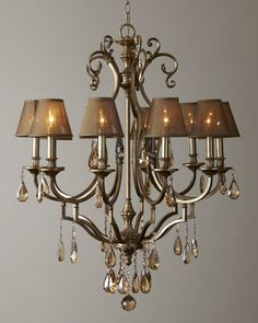 Bronze-Shaded Chandelier at Horchow.