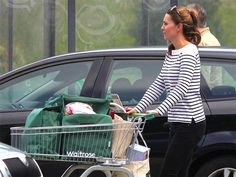 Catherine, Duchess of Cambridge goes shopping.  It's been more than 20 years since I had a baby and I don't look this good...of course I never did....