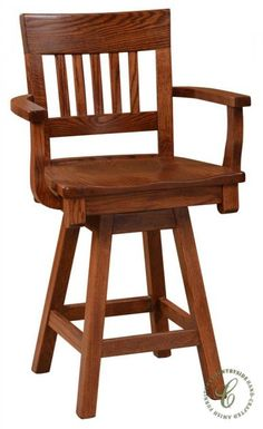 Waymar Wood Swivel Bar Stools With Arms The Quot Federal