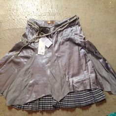 Piro skirt by klaus berggeeen Nwt Brand new silver skirt with belt ties Piro  Skirts