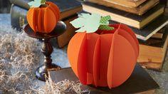 Halloween paper crafts: Portly paper pumpkins #Hallmark #HallmarkIdeas