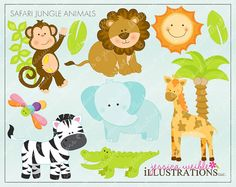 Hey, I found this really awesome Etsy listing at https://www.etsy.com/listing/61480264/safari-jungle-animals-cute-digital