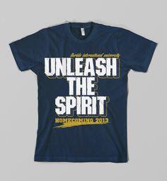 Homecoming Tshirt Design 2013 on Behance School Spirit Wear, School Spirit Shirts, Student Council Shirts, School Tshirt Designs, College Cheer, Dog School, Tiger Shirt, Game Day Shirts, Custom Tees
