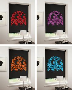 Retro Video Game Themed Designer Blinds for Josephs room.