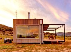 Modscape designed the solar-powered, self-sustaining Tintaldra cabin in Victoria, Australia.