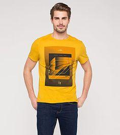 Print-T-Shirt aus Bio-Baumwolle in der Farbe gelb bei C&A