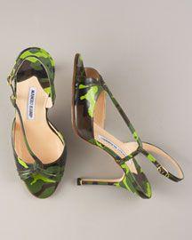 Bright green Camo shoes