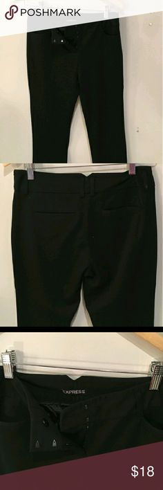 Express dress pants Thick skin hugging fabric. Never worn. Another reposh item that fit my daughter big ??. Has belt loops and good quality material. Express Pants Boot Cut & Flare