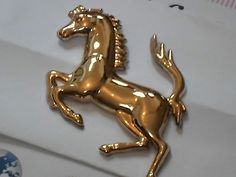 24k gold #plated metal #ferrari replica horse logo car #truck motorcycle bike bad,  View more on the LINK: http://www.zeppy.io/product/gb/2/272302989144/
