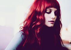 wavy dark red