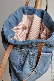 Image result for bags and purses from old denim jeans