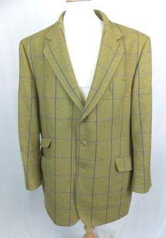 BROOK TAVERNER Pure Wool REID & TAYLOR Tweed Check Blazer Jacket Size 48 R - P09 £67.55