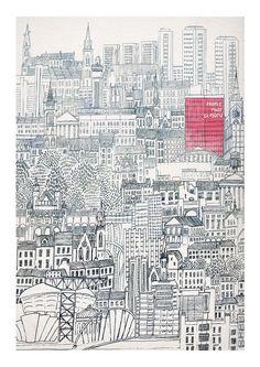 Glasgow print by David Fleck.