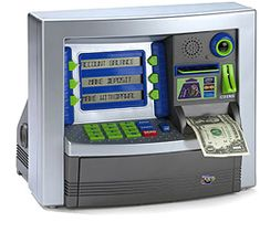 Want one of these so bad it would encourage me to save money like a real ATM bank my  birthday coming up