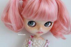 Custom Blythe Doll - 'Tilly' - Blythe custom, blythe repaint, art doll, OOAK blythe, hand created, blythe doll, pink haired blythe by ShelsTinyCreations on Etsy