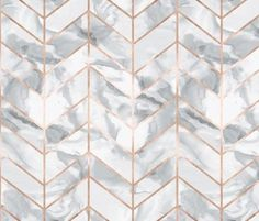Carrera Marble Herringbone Rose Gold Gilt Fabric By Willowlanetextiles On Spoonflower