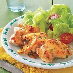 Healthy Chicken Recipes | Orange-Marmalade Glazed Chicken Thighs | AllYou.com