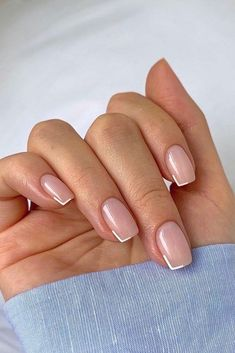 The Best Wedding Nails 2020/2021 Trends ❤ wedding nails trends original french manicure idea raelondonnails #weddingforward #wedding #bride #weddingnailstrends #weddingnails Frensh Nails, Chic Nails, Classy Nails, Stylish Nails, Swag Nails, Casual Nails, Subtle Nails, Neutral Nails, Milky Nails