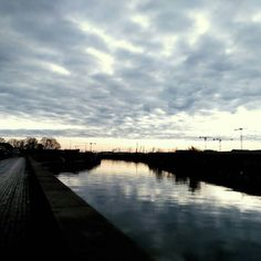 A #morning in #hamburg with #clouds on the #horizon