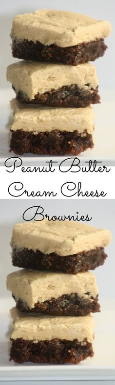 peanut butter cream cheese brownies pinterest
