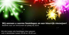 Exposure Company wenst u warme feestdagen en een kleurrijk nieuwjaar!