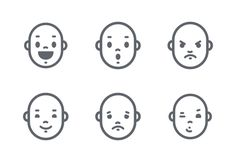'Face Expressions And Emotions' by Denis Sazhin Face Icon, Best Icons, All The Feels, 3d Face, Face Expressions, Wireframe, Pictogram, Graphic Design Inspiration, Ds