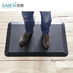 """Comfort mat was created specifically for the unique needs and challenges presented in the kitchen. The mat features a durable top surface, resilient inner core, non-skid bottom, beveled edges and a """"no curl"""" design that provides a """"no trip"""" transition as you step on or walk across. The foam construction fights fatigue with superior cushioning, reducing spinal compression and increasing circulation. Do it comfortably and fashionably with Comfort Kitchen Mat or Office Desk Mat ."""