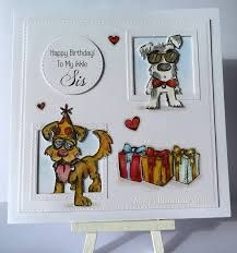 Image result for crazy dogs stamped cards