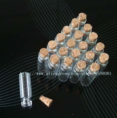 44.00$  Buy now - http://alinom.shopchina.info/1/go.php?t=32438008104 - Wholesale 200pcs 1.4ml Lot of small glass vials with cork tops tiny bottles Little empty jars  #aliexpress
