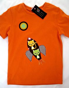 Spaceship Tshirt  size 4 years by teresetas on Etsy, $20.00