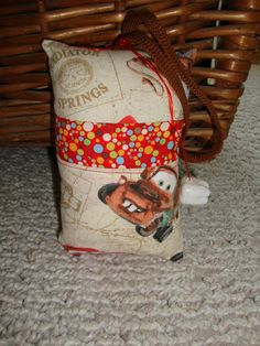 Mater from Cars Tooth Fairy Pillow with tooth by suespecialtyshop, $6.95