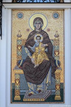 Religious Paintings, Byzantine Icons, Gold Work, Orthodox Icons, Blessed Mother, Aboriginal Art, Sacred Art, Christian Art, Mosaic Art
