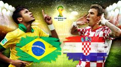 #Brazil vs #Croatia in FIFA World Cup 2014