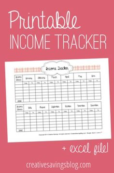 Learn how to track your income with this simple income tracker. This is the FIRST step in beginner budgeting!