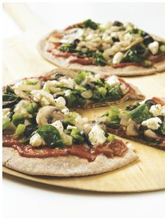 Vegetarian Pita Pizzas - so yummy and no nasties. A great alternative to pizza