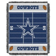 Dallas Cowboys NFL Field Woven Jacquard Baby Throw by Northwest Company // $30.00